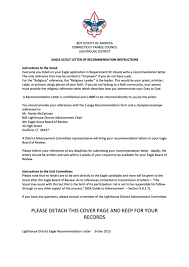 22 Eagle Scout Letter Re mendation free to in PDF