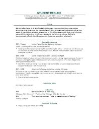 College Student Resume Example Sample For Internship Examples Students Curriculum Vitae Pdf