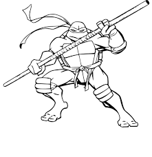 Coloriage Tortue Ninja 18 JeColoriecom