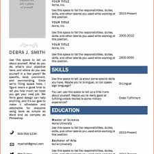 Simple Resume Format Download In Ms Word Charming Free Resume Resume