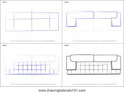 How To Draw Sofa Couch Top View Printable Step By Drawing Sheet DrawingTutorials101