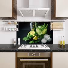 komplett küchen ausstattung spritzschutz küche glas esg