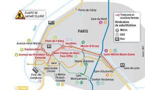 rer c porte de clichy le çon central du rer c ferme six semaines le parisien