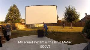 Backyard Theater Setup - YouTube How To Build And Hang A Projector Screen This Great Video Sent Interior Backyard Projector Screen Lawrahetcom Backyards Appealing Movie Theater Outdoor Night Free Carls Diy Projection Screens For Running With Scissors Setup Youtube Project Photo On Awesome Best On Budget 6 Steps With Pictures Systems Design Jen Joes 25 Movie Ideas Pinterest Cinema 120 169 Hdtv Indoor Portable Front