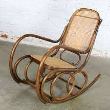 Vintage Stendig Bentwood And Cane Rocker Double Circle ...