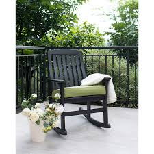 Buy Delahey Wood Porch Rocking Chair, Dark Brown In Cheap ...