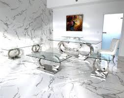 cc designer beistelltisch edelstahl tisch glastisch glas edel hochglanz