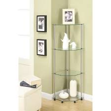 decoration living room glass display units black and glass