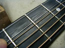 This Guitar Has Worn Frets That Have Been Filed At Least Once And A Flat Top Instead Of Rounded Crown Theres Nothing I Can Do To Help These