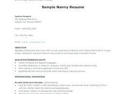 Nanny Housekeeper Resume Examples Sample Housekeeping Cover Letter Private Final Fancy