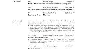 Pharmacist Objective Resume