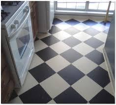 Linoleum Floor Tile Black White Flooring Idea