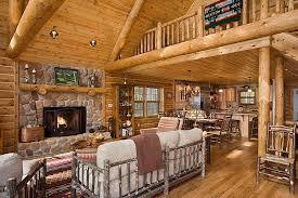 Log Home Interior Decorating Ideas For fine Wooden Log Home