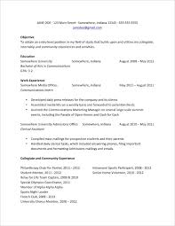 Basic Resume Examples For College Template Downloadable Resumes