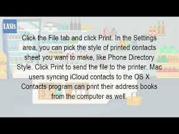 Can I Print f My Contacts From My Iphone