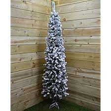 Snow Flocked Slim Christmas Tree christmas tree 7ft indoor slim tall xmas tree 2 2m snow flocked
