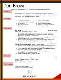 Best Resume For Teacher Samples