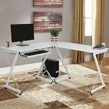 Ebay Corner Computer Desk by Wood L Shape Corner Computer Desk Pc Laptop Table Workstation Home