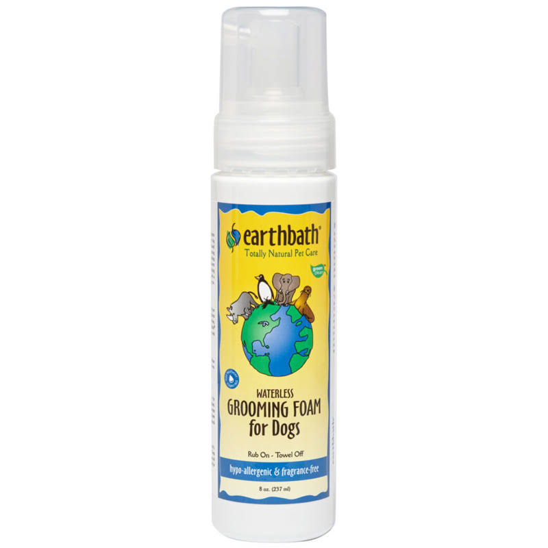 Earthbath Hypo-Allergenic Waterless Grooming Foam for Dogs - 8oz