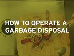 how to reset garbage disposal insinkerator