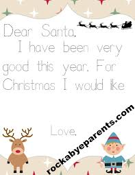 Letter to Santa Printable with Traceable Letters for Beginning Writers
