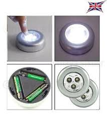 bright stick on led push lights self adhesive battery