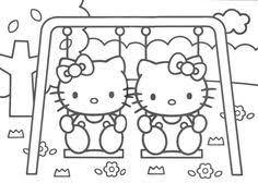 Pin By Liz Kurumu On Hello Kitty Para Pintar