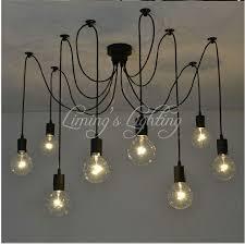 loft retro black spider pendant lights adjustable vintage pendant
