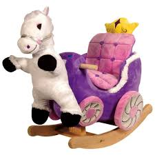 Furniture: Delightful Purple Horse Carriage Baby Rocking ...