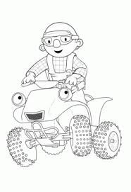 Bob The Builder And Scrambler Coloring Page Pages For Kids