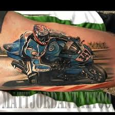 Racing Motorcycle Tattoo By Matt Jordan