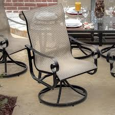 Slingback Patio Chairs That Rock by La Salle 9 Piece Sling Patio Dining Set With Swivel Rockers And