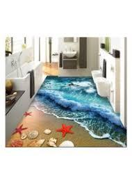 zah dünner 3d teppich rutschfest für wohnzimmer