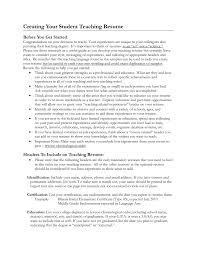 Student Teacher Resume Teaching Examples Free