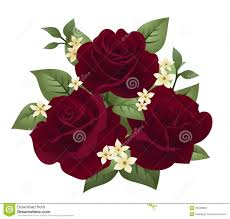 Rose Clipart Maroon 13