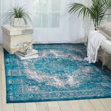 Teal Living Room Rug by Over Dyed Distressed Traditional Teal Grey Area Rug 7 U002710 X 10 U002710