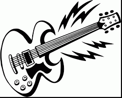 Guitar Coloring Page Extraordinary With Pages Draw
