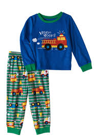Peas & Carrots - Toddler Boys Fire Truck Pajamas 2pc Set - Walmart.com