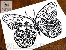 Butterfly Effect Paper Cutting Template Personal Use Vinyl