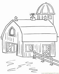 Wooden House Coloring Page