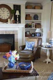 bookshelves in the family room stonegable