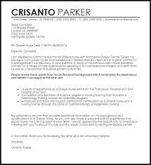 Dialysis Nurse Cover Letter Sample