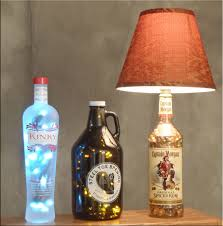 Kinky Beer And Captain Morgan Bottle Lamps
