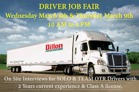 JOB FAIR - OTR Class A Drivers - Dillon Transportation, LLC Truck Driving Jobs Board Cr England Entrylevel No Experience Cdl Driver Youtube How To Be A Safe Commercial Drive Celadon Local Job Description And Resume Template Instructor California And Cdl Otr Team Driver Jobs Truck Driving No Experience The Truth About Drivers Salary Or Much Can You Make Per Sales Lewesmr Trucking For Free Top 15 That Require Little