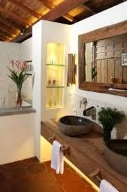 moderne rustikale badezimmer einrichtung mit unterwaschtisch
