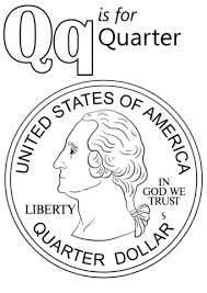 Click To See Printable Version Of Letter Q Is For Quarter Coloring Page