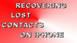 How To Recover Lost Contacts An Iphone