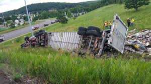 100 Mbi Trucking Rollover On 17 West