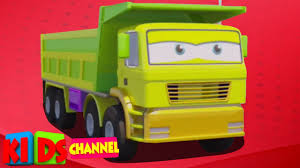 Cartoon Dump Trucks – Kids YouTube
