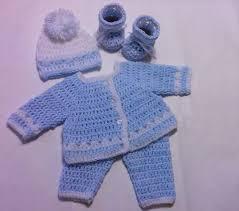 crochet newborn sweater set baby blue and white preemie baby